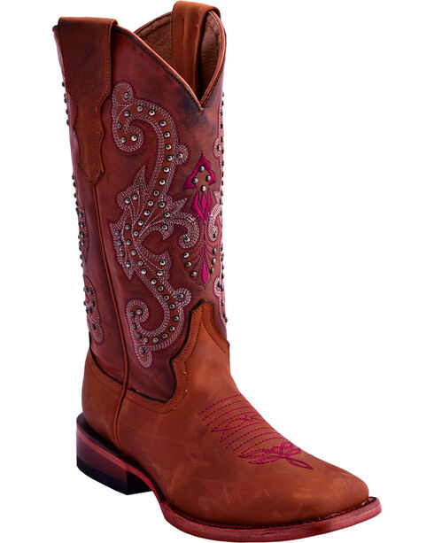 Ferrini Women's Studded Cowgirl Boots - Square Toe , , hi-res