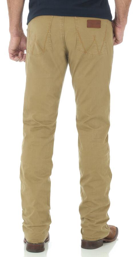 Wrangler Retro Slim Fit Straight Leg Khaki Jeans, Tan, hi-res