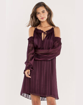 Miss Me Women's Purple Show A Little Cold-Shoulder Dress , Purple, hi-res