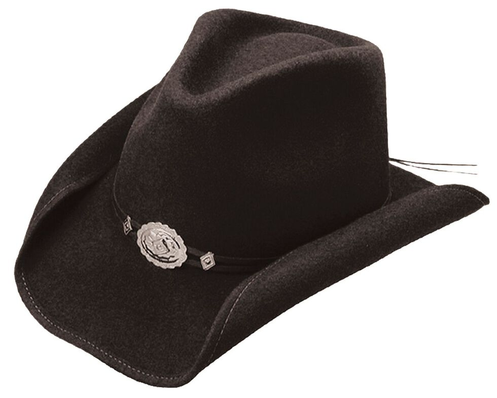 Stetson Hollywood Drive Crushable Wool Cowboy Hat, Black, hi-res