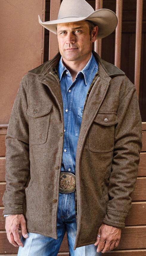 STS Ranchwear Men's Clifton Shirt Jacket - Big & Tall, Brown, hi-res