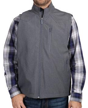 Cody James Men's Zip Front Vest, Grey, hi-res
