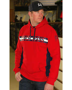 Cinch Men's Logo Pullover Hoodie, Red, hi-res