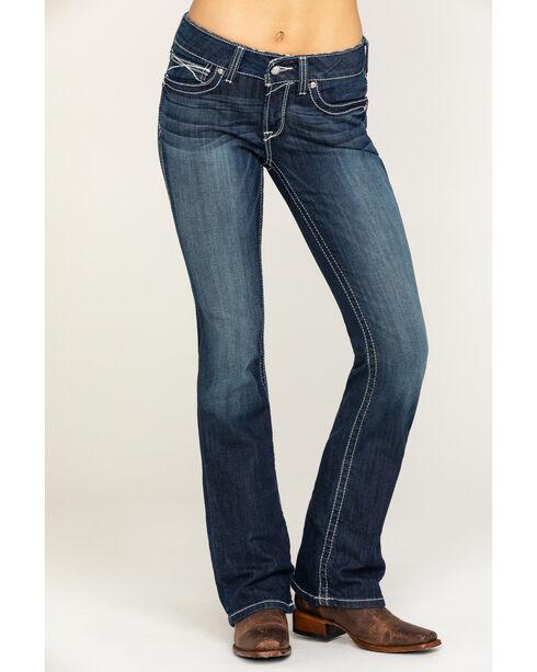 Ariat Women's Indigo Rosy Whipstitch Lakeshore Jeans - Boot Cut, Blue, hi-res