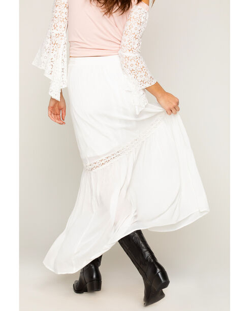 Shyanne Women's Lace Button Down Skirt, Ivory, hi-res
