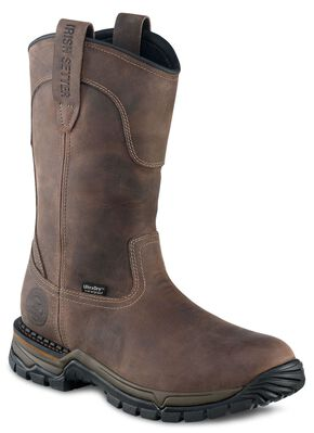 Irish Setter by Red Wing Shoes Men's Two Harbors EH Waterproof Pull-On Work Boots - Round Toe, Brown, hi-res