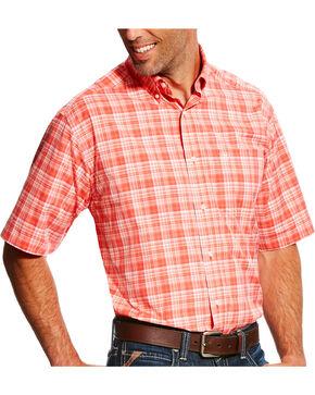 Ariat Men's Orange Narcisso Plaid Shirt , Orange, hi-res
