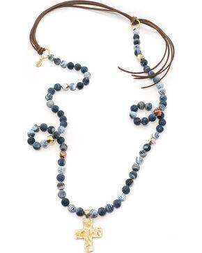 Julio Designs Bluejean Necklace, Denim, hi-res