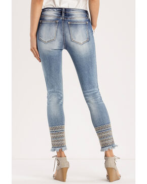 Miss Me Women's Indigo A Groove Thang Jeans - Skinny , Indigo, hi-res