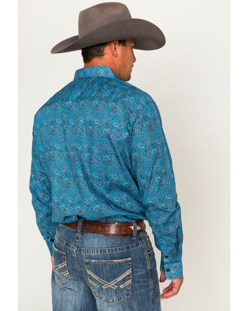 Cody James Men's Paisley Long Sleeve Shirt, Blue, hi-res