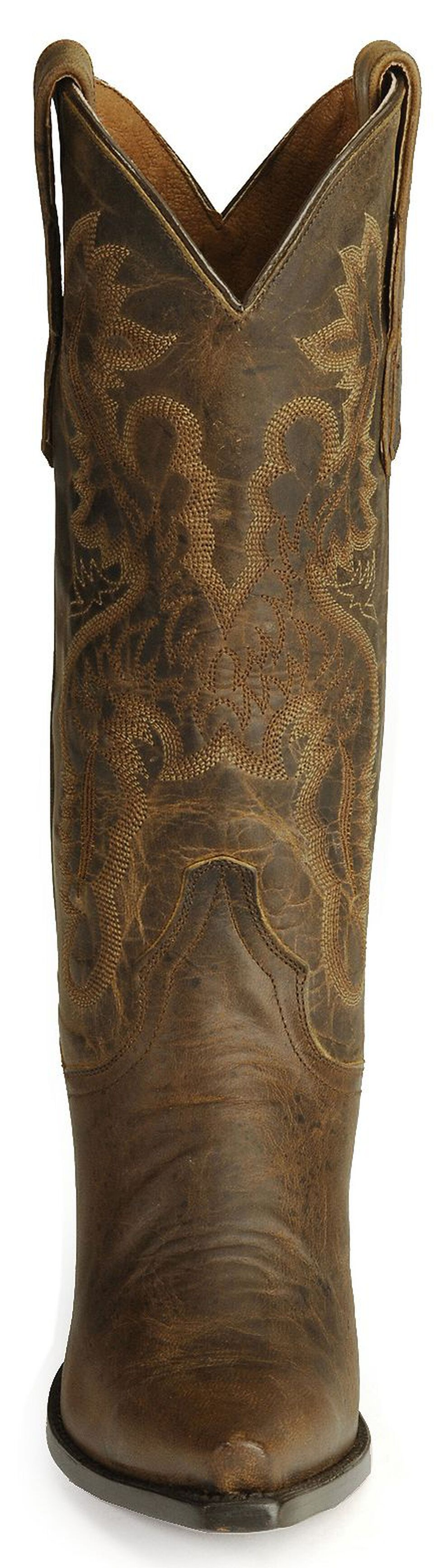 Dan Post Dirty Bull Cowgirl Boots - Snip Toe, Bay Brown, hi-res