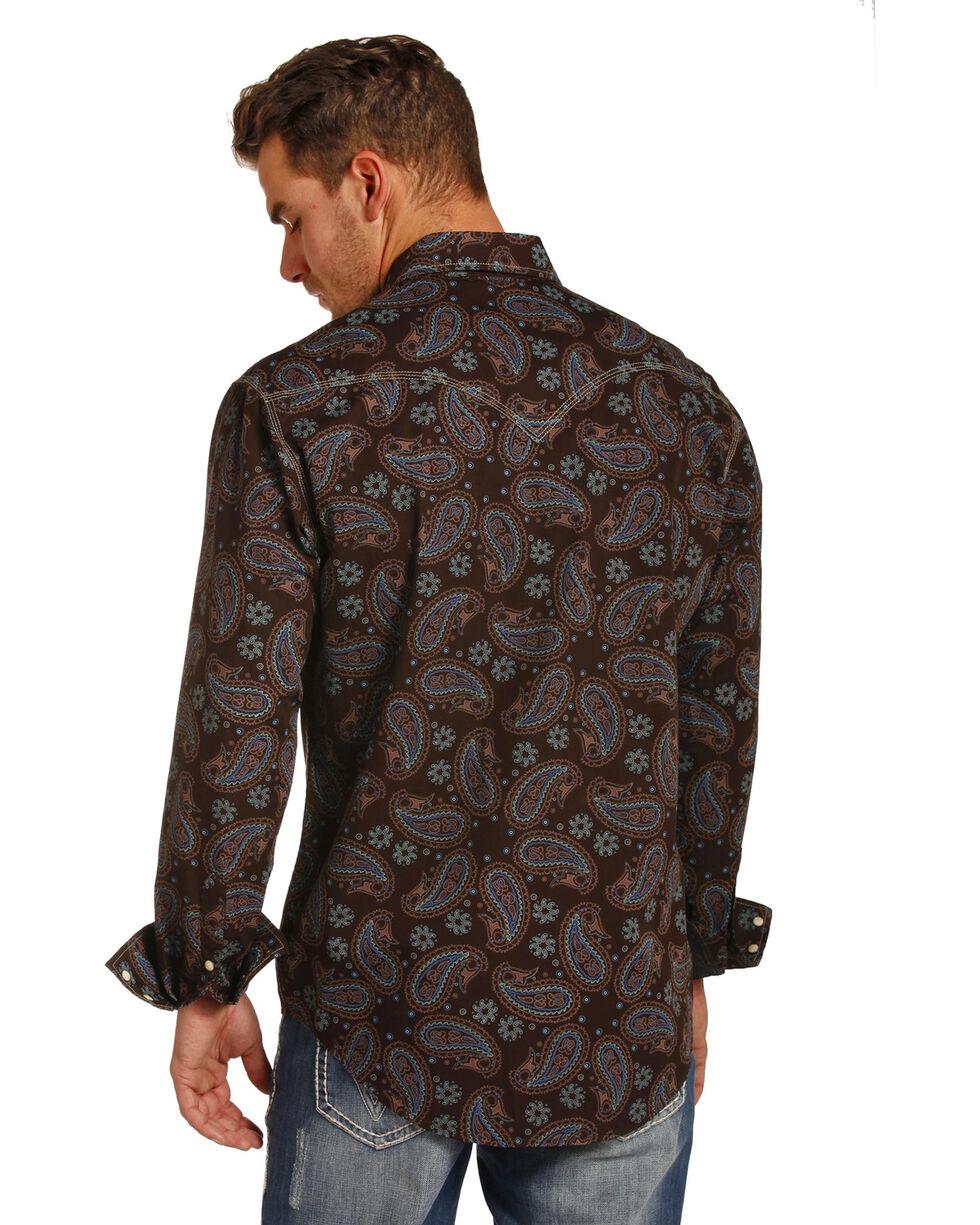 Rock & Roll Cowboy Men's Enzyme Washed Paisley Print Shirt , Multi, hi-res