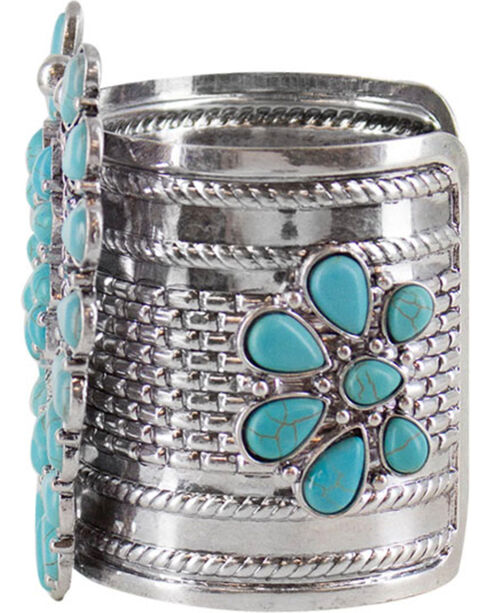 Shyanne Women's Turquoise Concho Cuff , Turquoise, hi-res