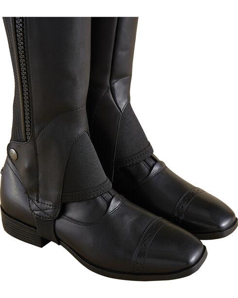 Ariat Adult Flex Leather Half Chaps, Black, hi-res
