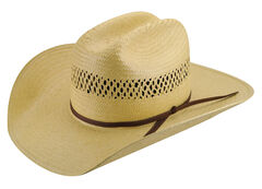 Bailey Western Sarge Cattleman Straw Hat, Natural, hi-res