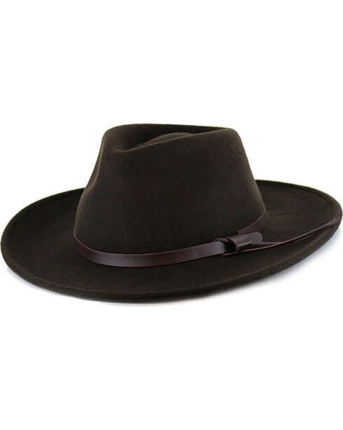 Dorfman Pacific Men's Wool Hat, Black, hi-res