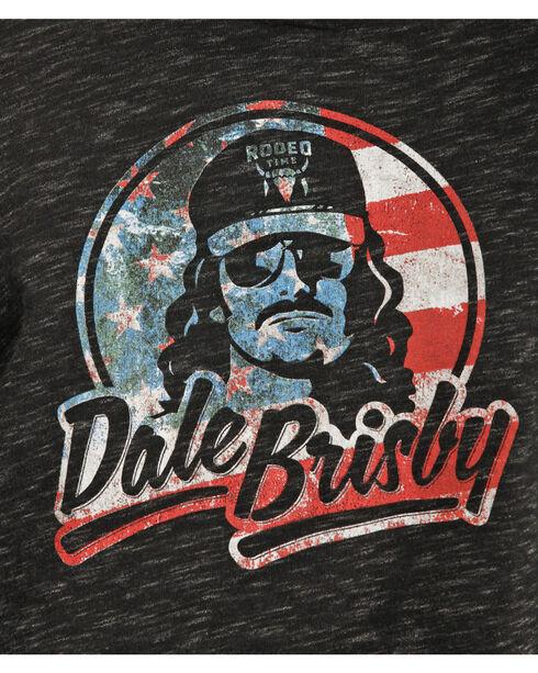 Rock & Roll Cowboy Men's Black Patriotic Dale Brisby Hoodie , Black, hi-res