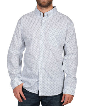 Cody James Men's Geo Luxor Long Sleeve Shirt, White, hi-res