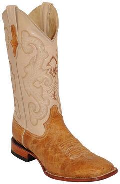 Ferrini Antique Saddle Cowhide Western Boots - Square Toe , , hi-res