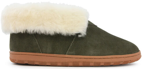 Lamo Men's Merino Wool Bootie, Dark Green, hi-res