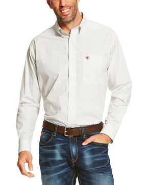 Ariat Men's White Silverado Long Sleeve Western Shirt , White, hi-res