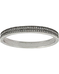 Montana Silversmiths Women's Silver A Stroll At Midnight Hinged Bracelet , Silver, hi-res