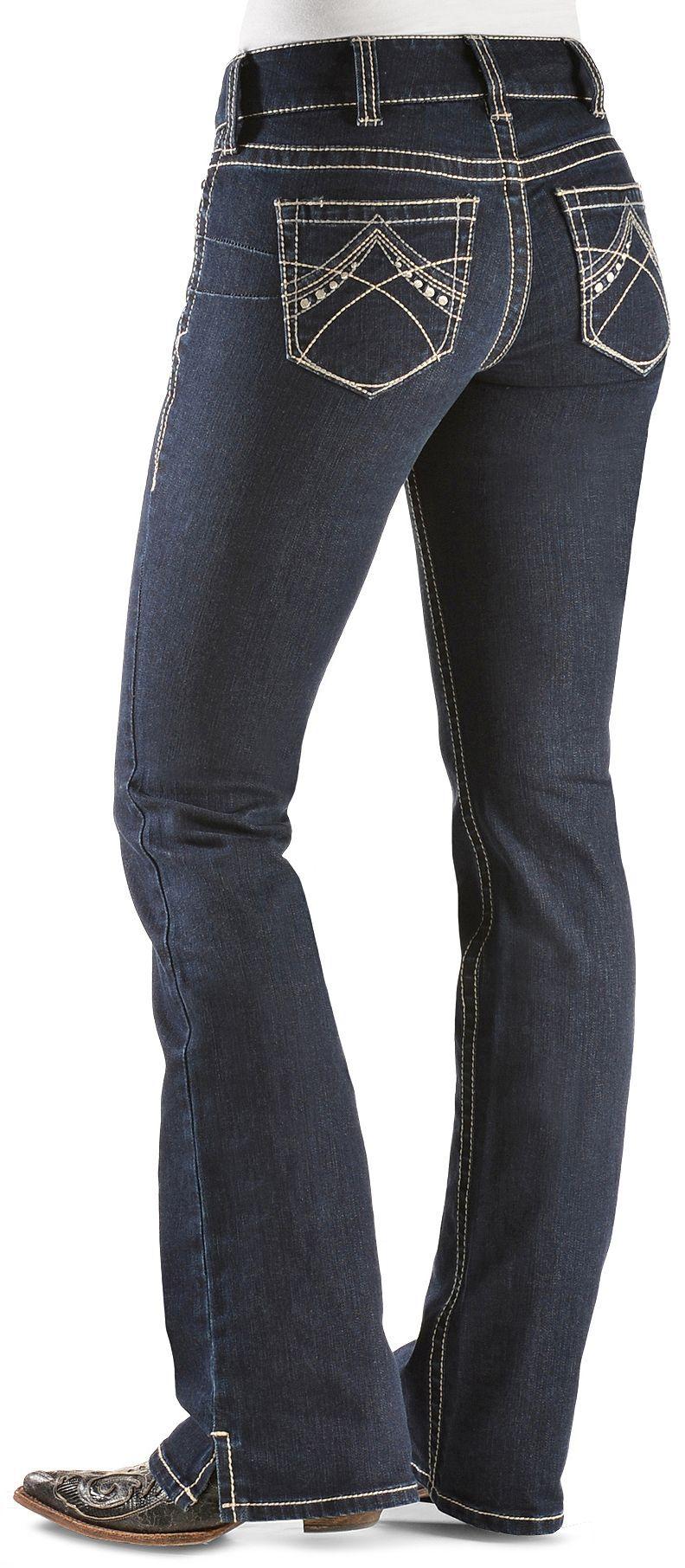 Womens dark blue bootcut jeans