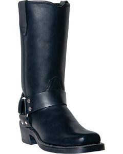 Dingo Women's Molly Harness Boots - Square Toe, Black, hi-res