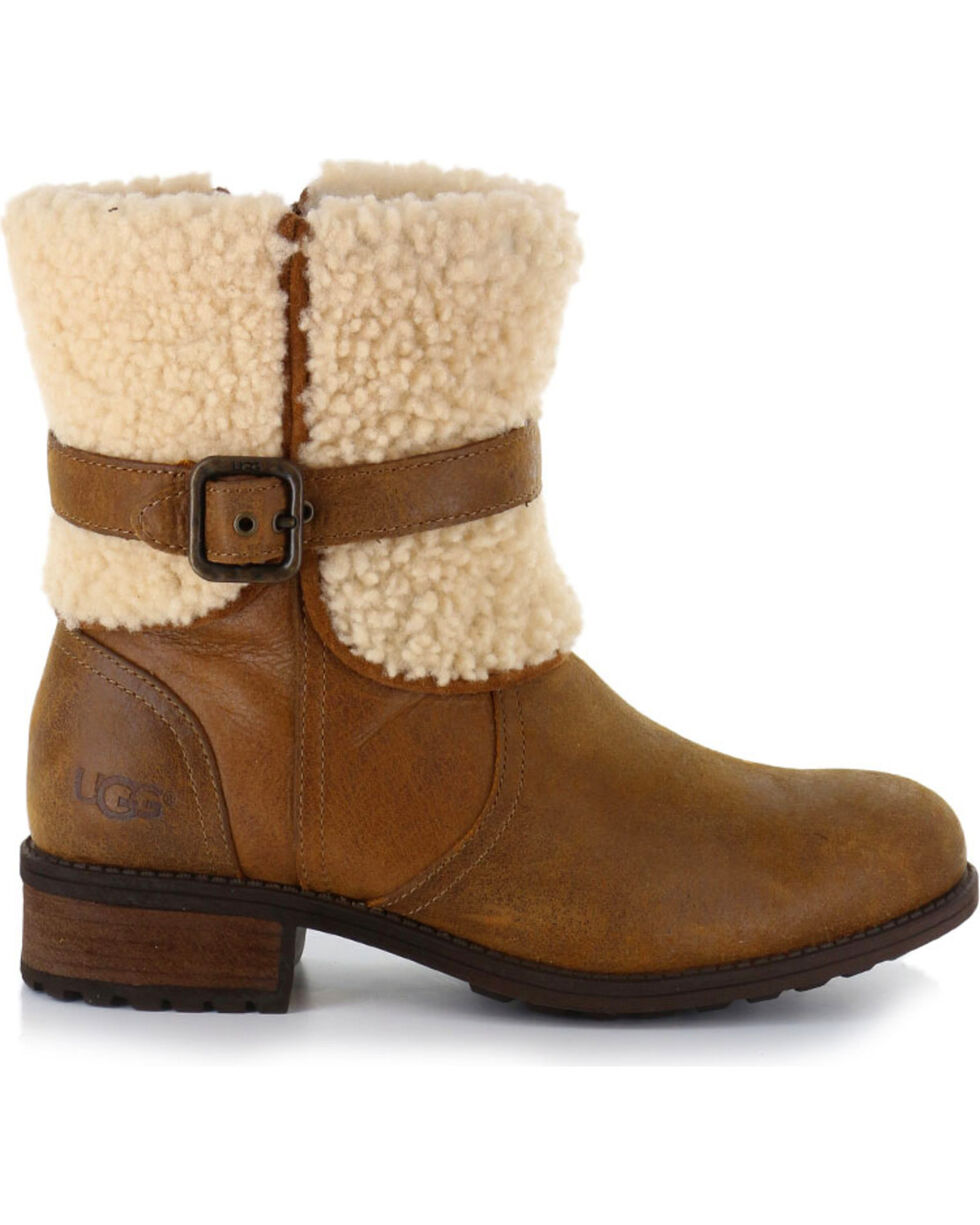 UGG Women's Brown Blayre II Short Boots - Round Toe , Brown, hi-res