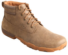 Twisted X  Men's Lace-Up Brown Driving Mocs, , hi-res