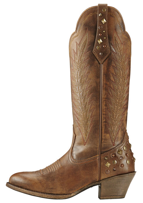 Ariat Dusty Diamond Cowgirl Boots - Round Toe, Brown, hi-res