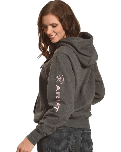 Ariat Women's Charcoal Logo Hoodie, Charcoal, hi-res
