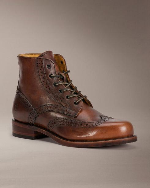 Frye Men's Arkansas Wingtip Boots, Cognac, hi-res