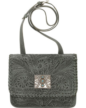 American West Turquoise Grand Prairie Crossbody Bag , Turquoise, hi-res