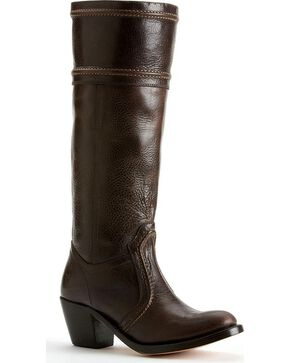 Frye Women's Jane 14L Wide Calf Tall Boots - Round Toe, Dark Brown, hi-res