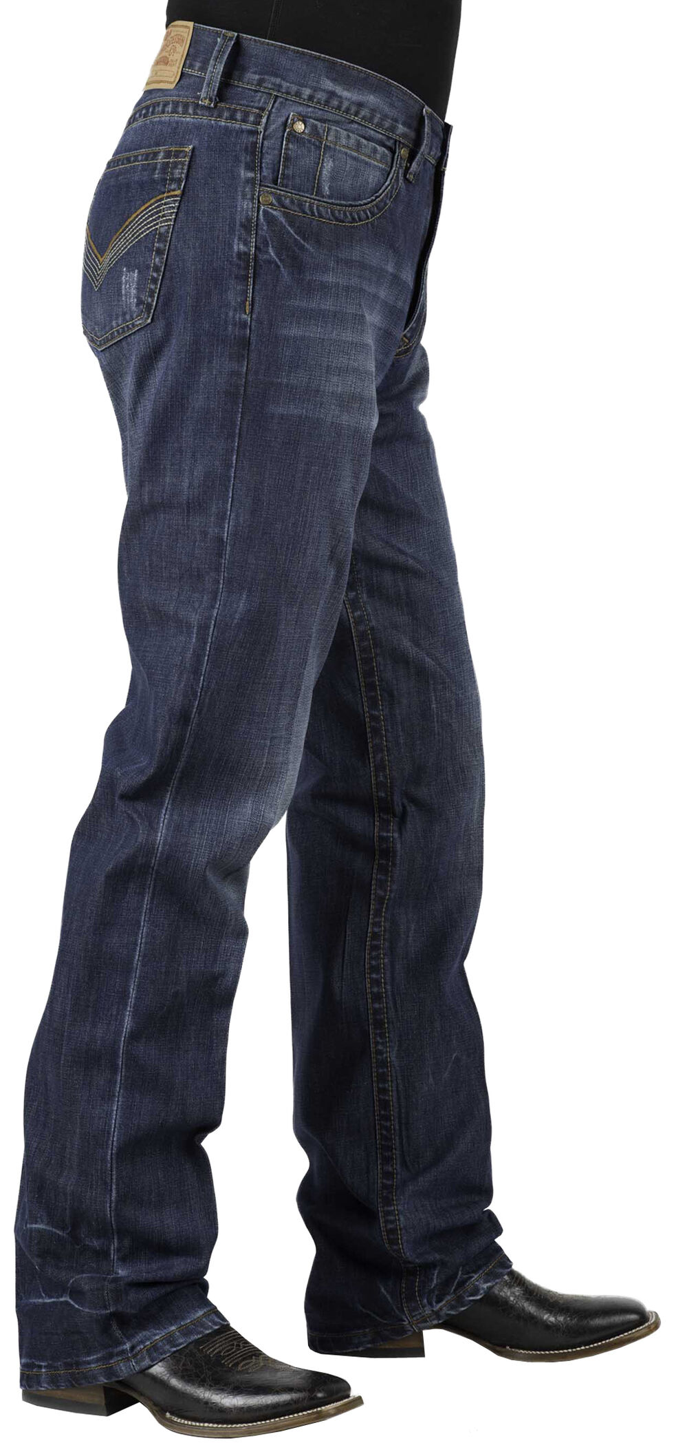 Stetson Modern Fit 1312 Jeans - Low Rise Bootcut, Denim, hi-res