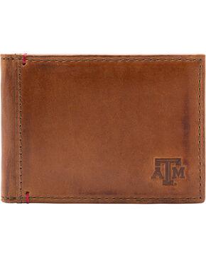 Jack Mason Men's Texas A&M Campus Flip Bifold Wallet, Tan, hi-res
