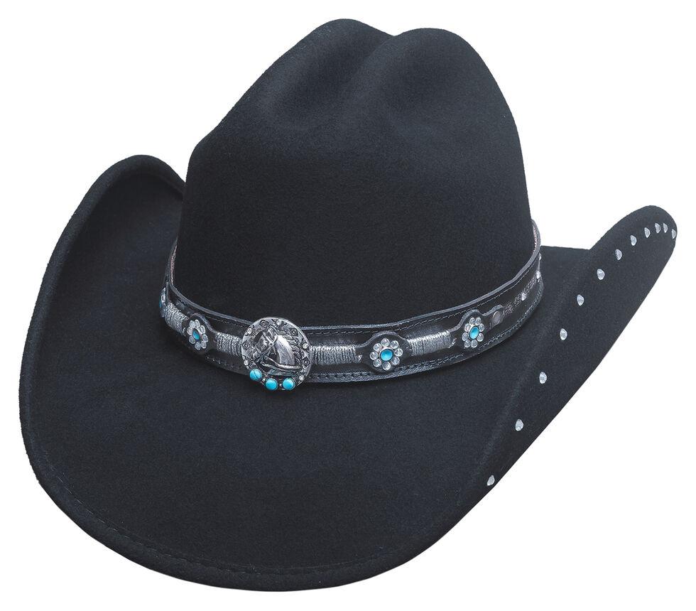 Bullhide Desperate Ride Hat, Black, hi-res
