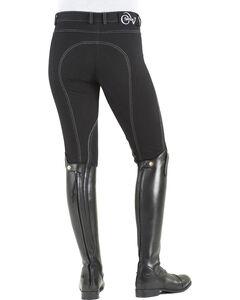 Ovation Women's Euro Jean Zip Front Knee Patch Breeches, , hi-res