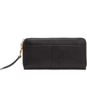 Frye Women's Ilana Harness Zip Wallet , Black, hi-res
