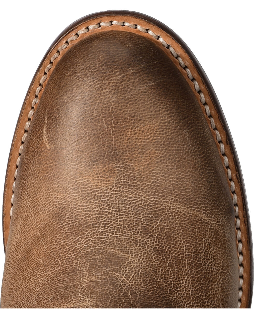 Lucchese Handmade Tan Lanie Tall Fringe Boots - Round Toe , Tan, hi-res