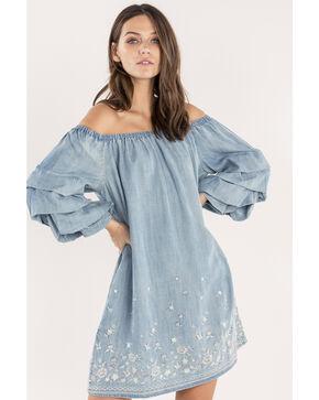 Miss Me Women's Pick Me Off-The-Shoulder Dress , Indigo, hi-res