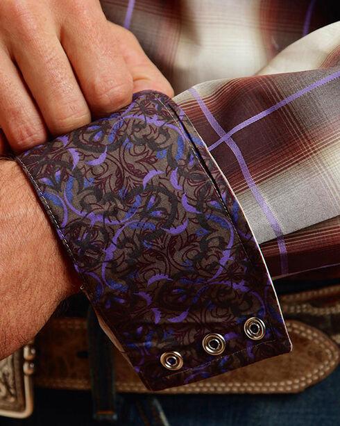 Stetson Men's Washed Plaid Long Sleeve Shirt, Cream, hi-res