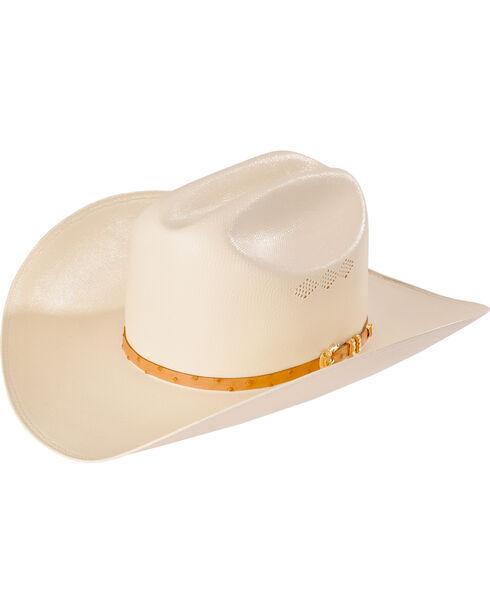 Larry Mahan Men's 50X Jerarca Ivory Woven Cowboy Hat, Ivory, hi-res
