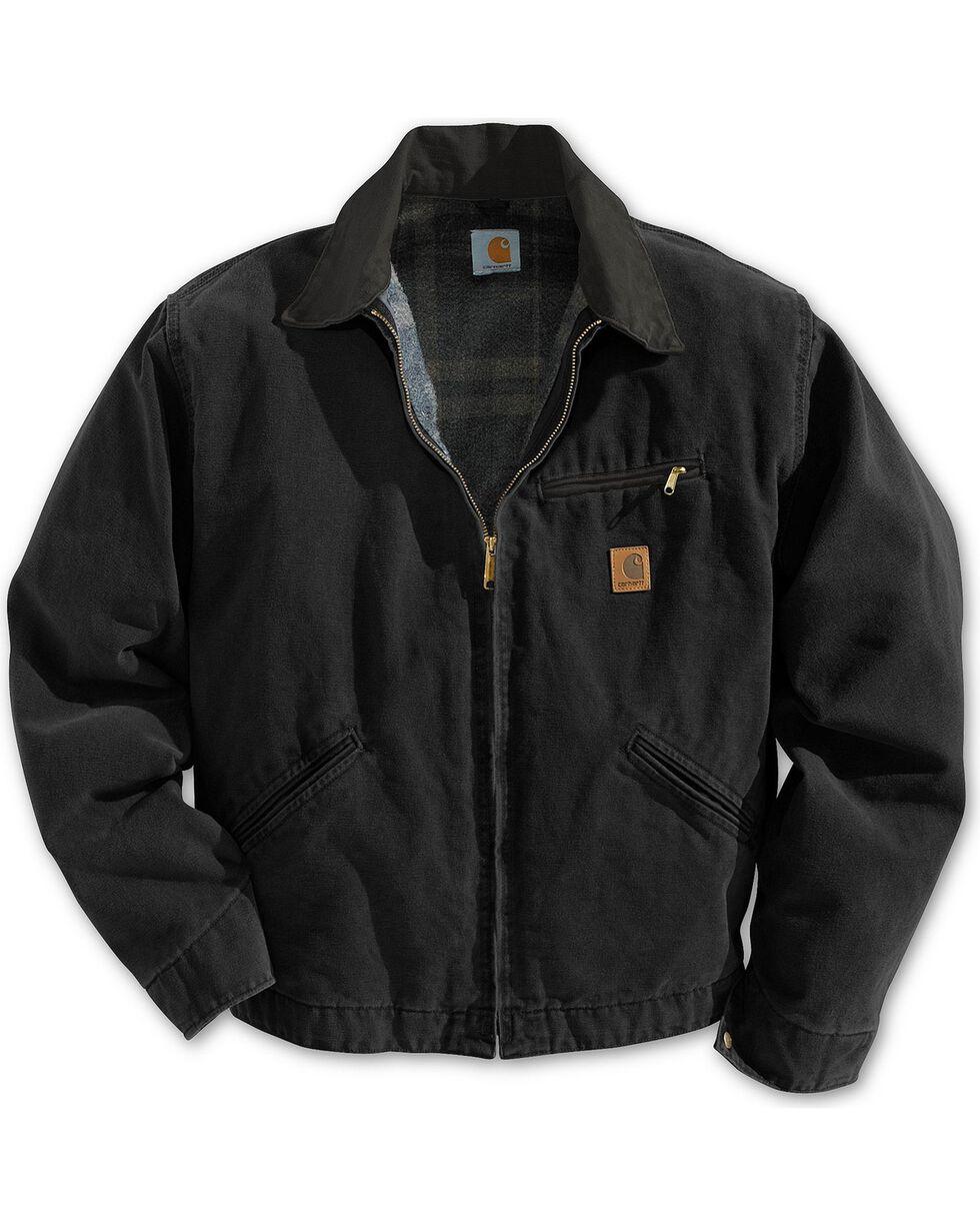 Carhartt Sandstone Detroit Work Jacket, Black, hi-res