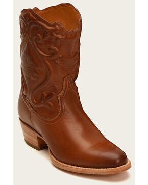 Frye Women's Holly Brogue Short Boots - Medium Toe , Cognac, hi-res