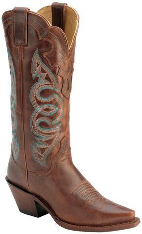 Justin Saddle Torino Cowgirl Boots - Snip Toe, Cognac, hi-res