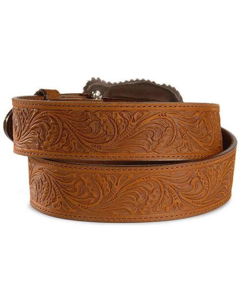 Tony Lama Brown Layla Leather Belt, Brown, hi-res