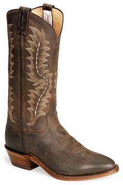Tony Lama Chocolate Goat Skin Cowboy Boot - Medium Toe, , hi-res