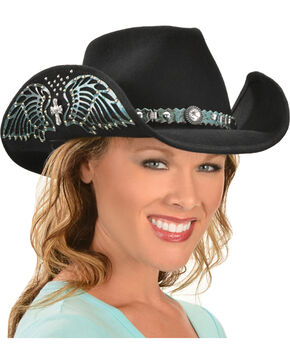 Bullhide Hats Women's Nobody But You Embellished Felt Cowgirl Hat, Black, hi-res